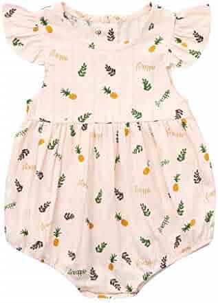 4fb6ac64d173 Efaster Summer Baby Boy Girl Pineapple Print Romper Bodysuit Jumpsuit  Clothes Set 0-24 Months