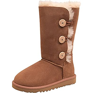 2471f116ee4 Kids UGG Junior Girls Bailey Button Triplet Boots Chestnut - Tan ...