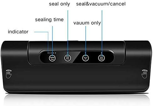 ZMYNB Vacuum Sealer Machine, Un Solo Pulsante Alimentari Sealer Macchina Sottovuoto con Funzione di Regolazione Dry & Umido E Ingranaggi Alimentari Modi for Food Saver