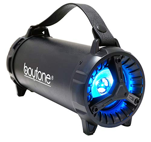 Boytone BT-40BK Indoor/Outdoor Cylinder Built-in Sub SD USB Built in Rechargeable