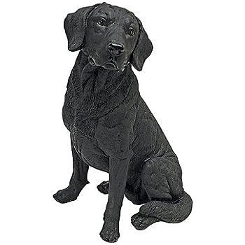 """15½/""""H Tall Adorable Black Labrador Dog Garden Statue"""