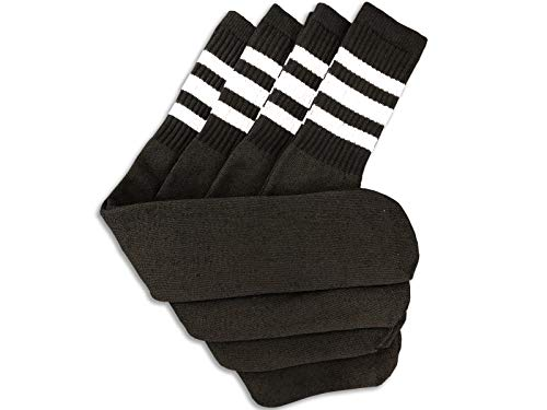 - Black Tube Socks with White Stripes 24