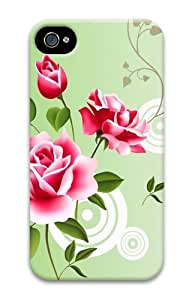 Abstract Red Roses PC Case for iphone 4S/4