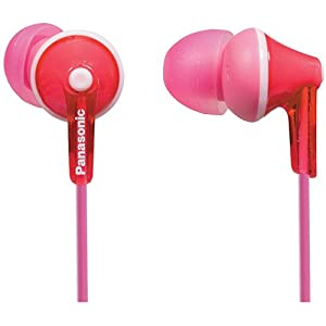 Panasonic In-Ear Lightweight Water-Resistant Active Sport Stereo Headphones With In-line Microphone and Remote (Pink)
