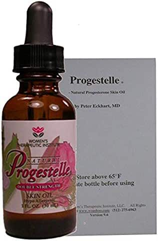 Progestelle Progesterone Skin Oil Purer Than Progesterone Cream, NO Fragrance, Bioidentical, NO Preservatives (Booklet - First Time Buyers) 1oz, 800 mg/oz Double Strength