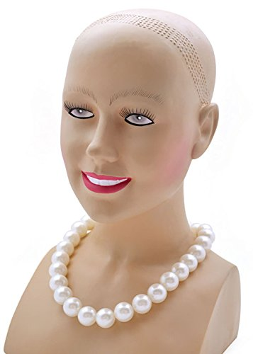 Struts Fancy Dress Womens 1950s Style Large Pearl Necklace