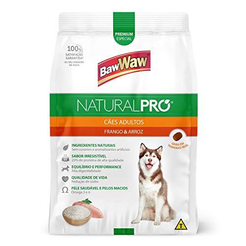 Baw Waw Natural Pró Alimento Para Cães Frango E Arroz - 6x2,5kg