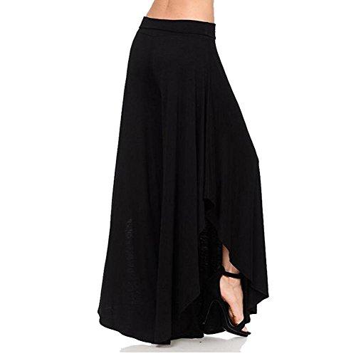 Taille Confortable Lâche Doux Décontracté Femme Noir Longue Split Harem Hibote Femmes Tissu Bloomers Haute Yoga En Sexy Summer Pantalon Couleur Unie tgcqB