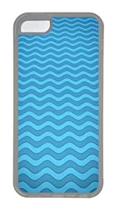Customized Case Patterns wave TPU Transparent for Apple iPhone 5C