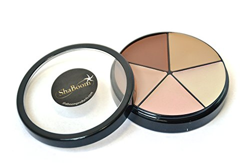 Paraben Tinted Free Moisturizer (All-Around Cover Wheel, Corrective Concealer Cream by ShaBoom Beauty (Neutral Tones))