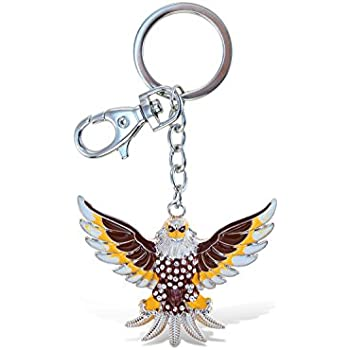 Puzzled Elegant Metal Ring Sparkling Stylish American Bald Eagle Charms  Keychain Rust Resistant Alloy   Crystals Keyring Unique Backpack Handbag  Purse ... 08e038456