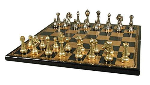 Italfama Staunton Metal on Leather Chess Board
