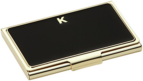 - Kate Spade New York Initial Business Card Holders, K, Black
