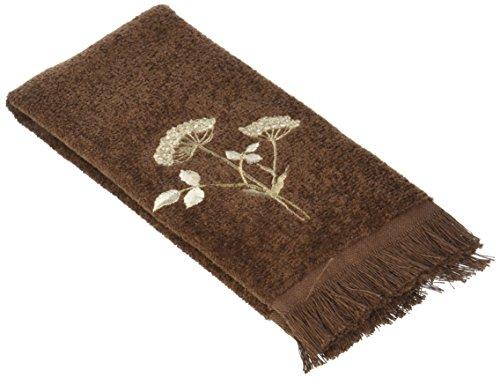 Avanti Queen Anne Embroidered Fingertip Towel, Mocha