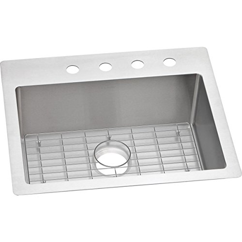 R25229BGFR2 Single Bowl Dual Mount Stainless Steel Sink Kit (Universal Mount Single Bowl Sink)