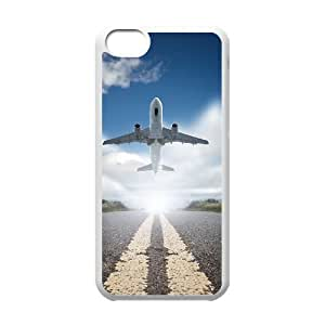 QSWHXN Print Airplane Pattern PC Hard Case for iPhone 5C