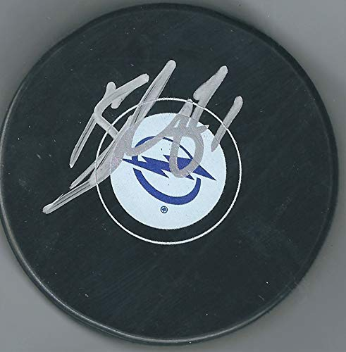 Autographed Brayden Point Tampa Bay Lightning Hockey Puck