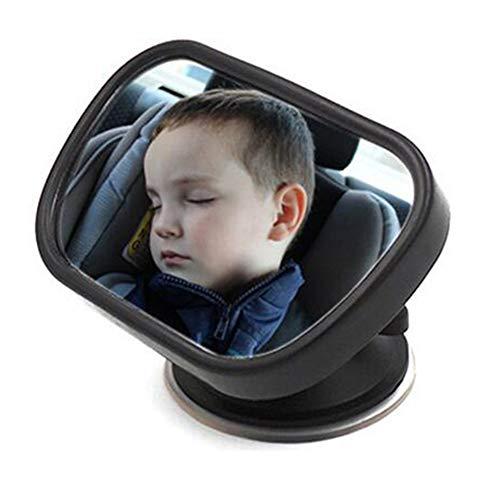 Portátil posterior del coche frente del espejo para el bebé y la mamá del espejo retrovisor del bebé rotación ajustable...