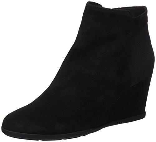 Geox Women's Inspiration Wedg 4 Ankle Bootie, Black, 36.5 EU/6.5 M US