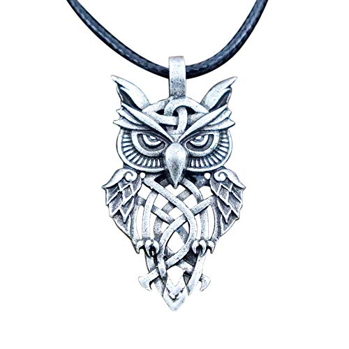 - HAQUIL Owl Necklace Celtic Owl Pendant Necklace for Men and Women