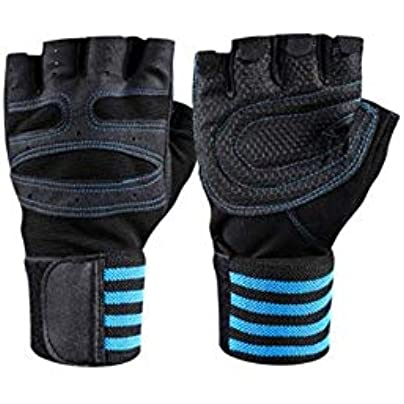 XuBa Half-finger Sports Fitness Gloves Wrist Band Anti-skid Weightlifting Cycling Gloves Estimated Price £8.78 -