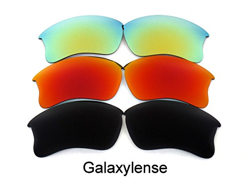 Galaxy Replacement Lenses For Oakley Flak Jacket XLJ Polarized Black&Red&Gold - Flak Oakley And Black Jacket Red