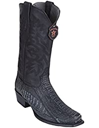 Men's 7 Toe Genuine Leather Ostrich Leg Skin Western Boots - Exotic Skin Boots