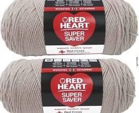 Bulk Buy: Red Heart Super Saver (2-pack) (Oatmeal, 7 oz each skein)