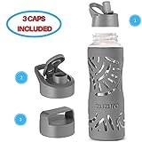 Zuzoro Glass Water Bottle (Gray)