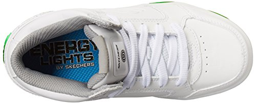 Skechers Energy Lights, Zapatillas Altas para Niños Weiß (White)