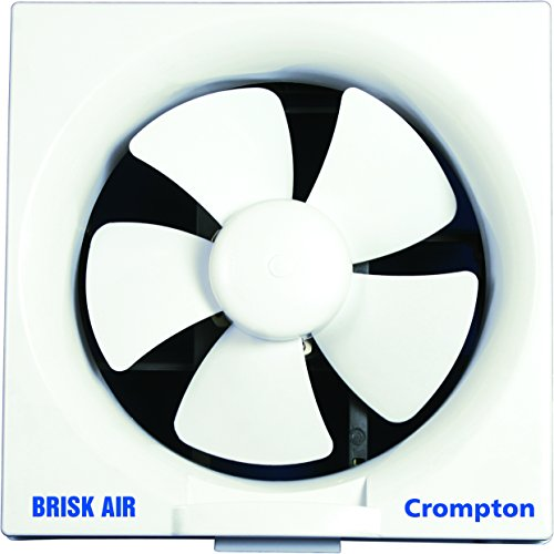 Crompton Brisk Air 150 mm (6 inch) 25W Exhaust Fan for Kitchen, Bathroom and Office (White)