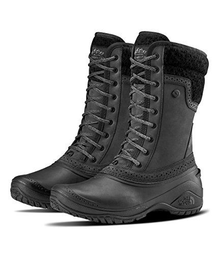 The North Face Women's Shellista II Mid - TNF Black & TNF Black - - Waterproof Snow North Face Boots