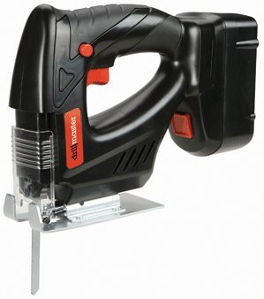 18 Volt Cordless Jig Saw Variable Speed: 0-2500 Strokes Per Minute with Integrated Footplate That Tilts up to 45 Degrees; Comes With: 3-5 Hour Charger, AC/DC Wall Adapter, 18V Nicd Battery, 6 TPI Wood Blade and 21 TPI Metal Blade by Drill Master