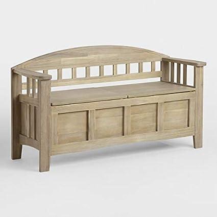 Shilpi Handicrafts Teak Wood Sofa/Storage Bench: Amazon.in ...
