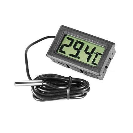 Facilla waymeduo termómetro termómetro Digital para Acuario terrario, plástico, Negro, 1 Pack