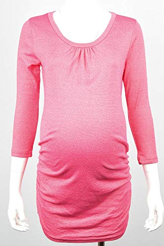 Michael Stars Maternity Taffy Pink OSFA Shine Ruched Tunic Shirt top