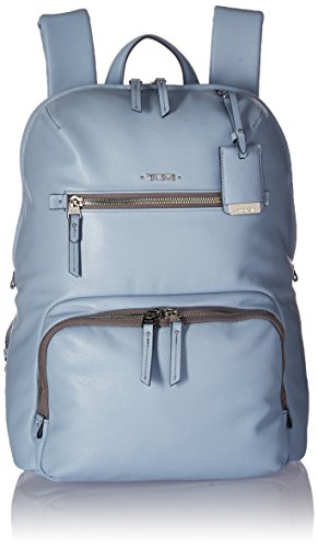 Tumi Women's Voyageur Leather Halle Backpack Light Blue