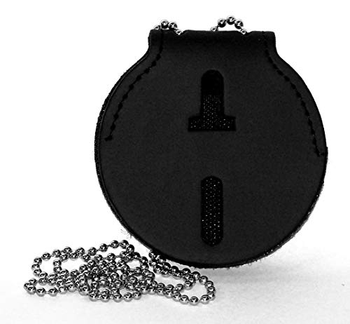 (Small 3 Inch Diameter Round Universal Badge Belt Clip with Chain)