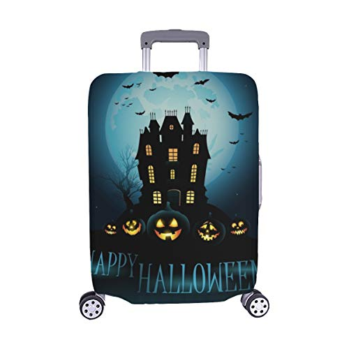 Halloween Haunted House Spandex Trolley Case Travel Luggage Protector Suitcase Cover 28.5 X 20.5 -