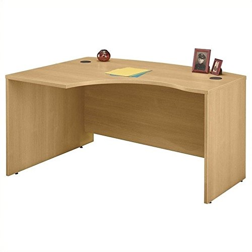 Bush Business Furniture Series C Collection 60W x 43D Left Hand L-Bow Desk Shell in Light (Worksurface Light)