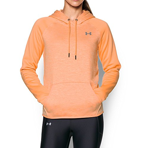 Womens Orange Hoody Sweatshirt (Under Armour Women's Storm Armour Fleece Icon Twist Hoodie, Afterglow/Afterglow, Small)