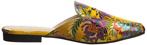 Qupid Womens Regent-02 Loafer Flat Yellow / Multi