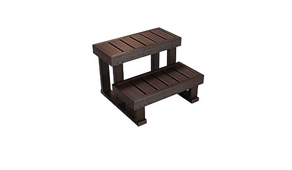 Escalera con 2 peldaños para spa., color Gris: Amazon.es: Jardín
