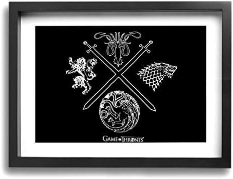アートパネル フォトフレーム 絵画 壁掛け油彩画 Game Of Thrones ゲーム・オブ・スローンズ Framed Pai