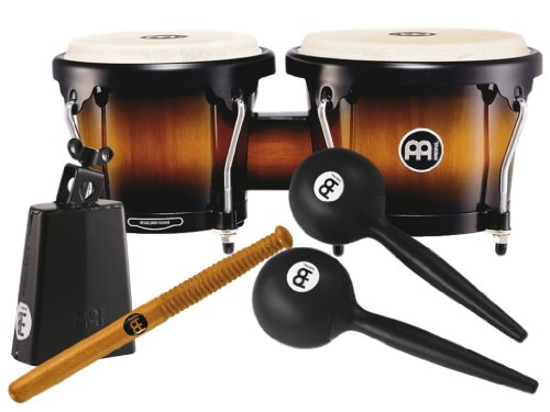 Meinl Percussion PERC-SET1 Bongo/Cowbell Drum Combo with Free Maracas