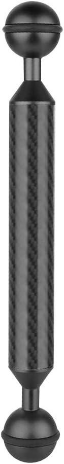 Black ZL-U High quality 7 inch 17.7cm Length 20.8mm Diameter Dual Balls Carbon Fiber Floating Arm Ball Diameter: 25mm Color : Black