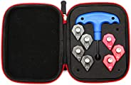 SHABIER 7×Golf Weights Wrench Kit Compatible with Cobra F9 Driver 4g 6g 8g 10g 12g 14g 16g +1pc Wrench +1pc Ca