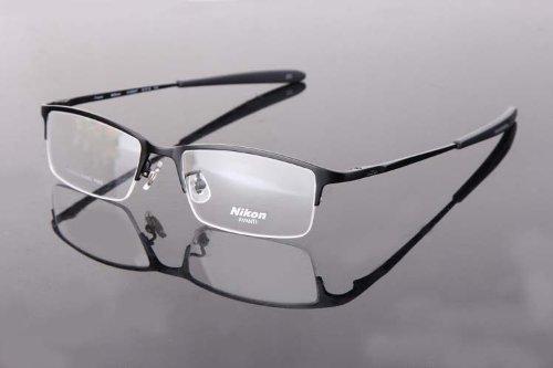 1e7b483899f6 Amazon.com  Nikon Titanium Unisex Eye Glass Eyeglass Frame Half Rim Frame  with Special Gift  Health   Personal Care