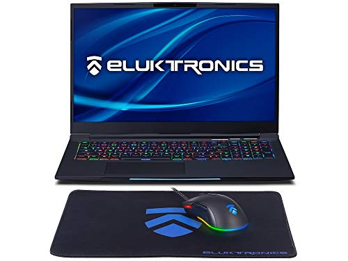 Eluktronics MECH-17 G1Rx Slim & Light NVIDIA GeForce RTX 2060 Gaming Laptop with Mechanical RGB Keyboard - Intel i7-9750H CPU 6GB GDDR6 VR Ready GPU 17.3