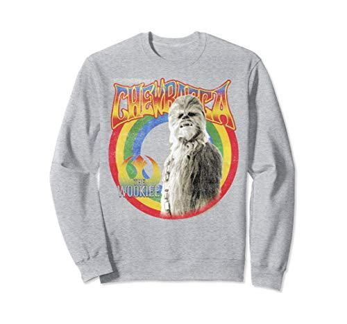 Star Wars Retro Rainbow Chewbacca The Wookiee Sweatshirt]()